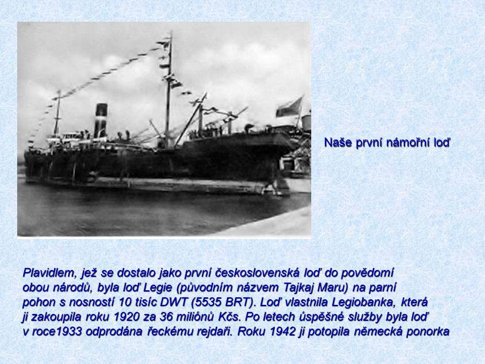 Naše první námořní loď