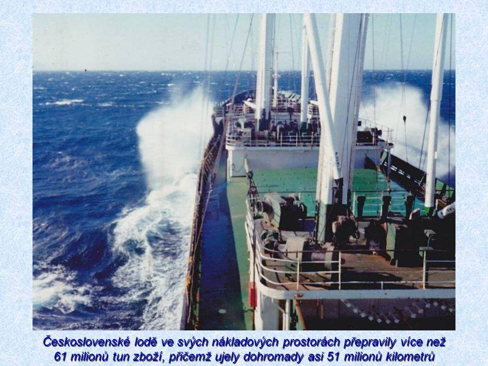 Československé lodě ve svých nákladových prostorách přepravily více než 61 milionů tun zboží, přičemž ujely dohromady asi 51 milionů kilometrů