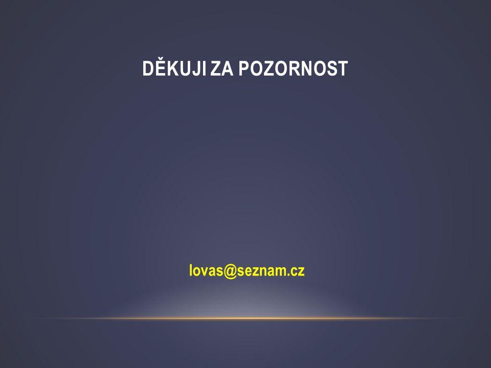 Děkuji za pozornost lovas@seznam.cz