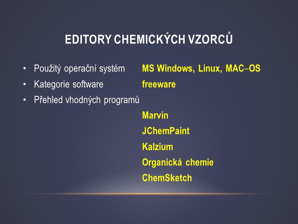 Editory chemických vzorců