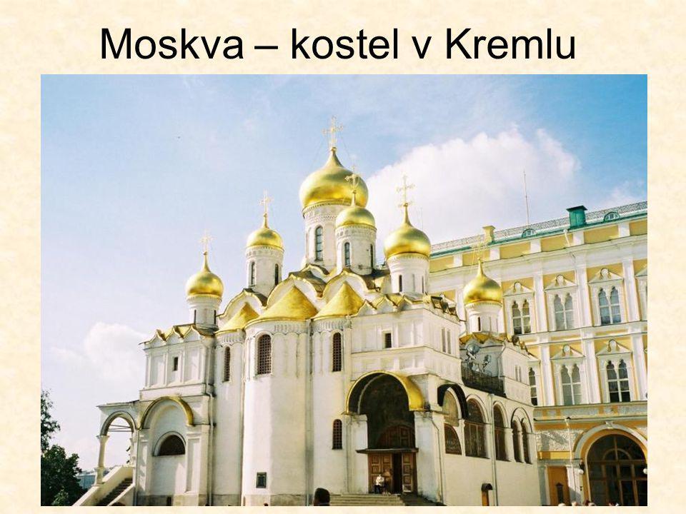 Moskva – kostel v Kremlu