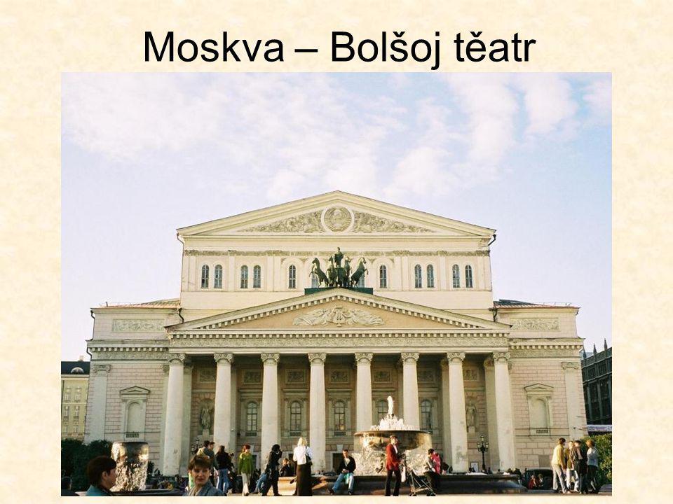 Moskva – Bolšoj těatr