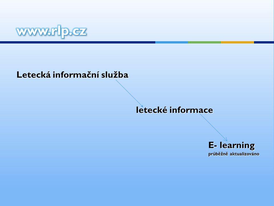 www.rlp.cz Letecká informační služba letecké informace E- learning