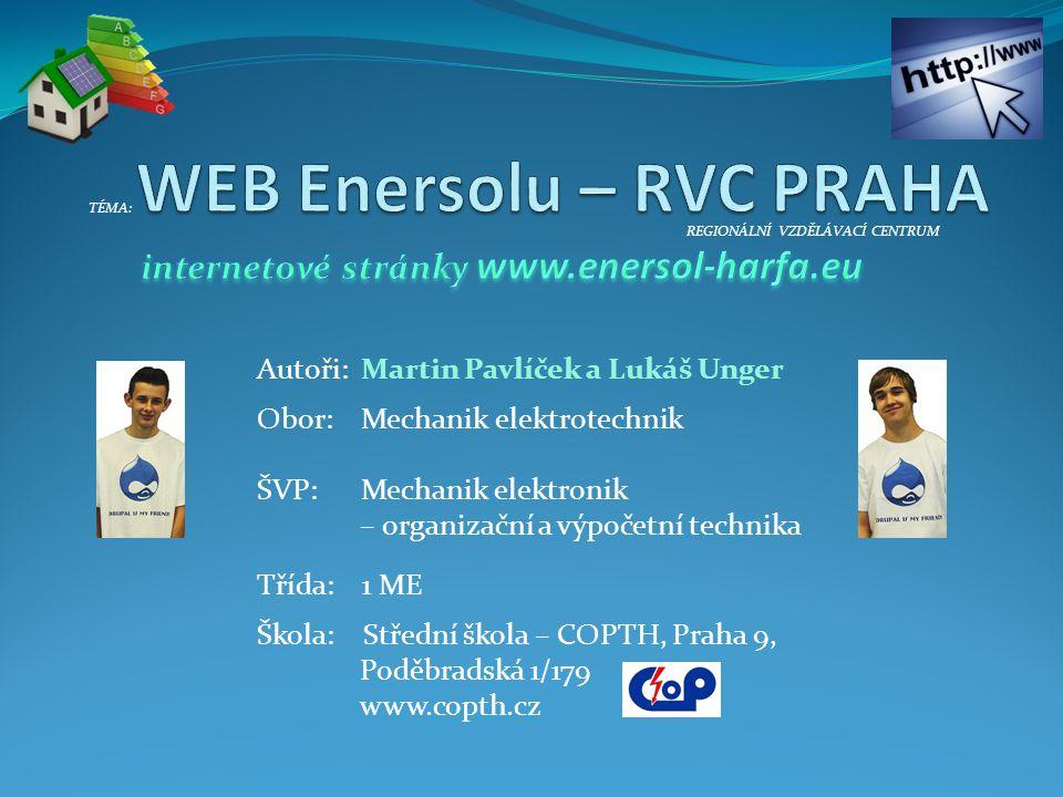 WEB Enersolu – RVC PRAHA