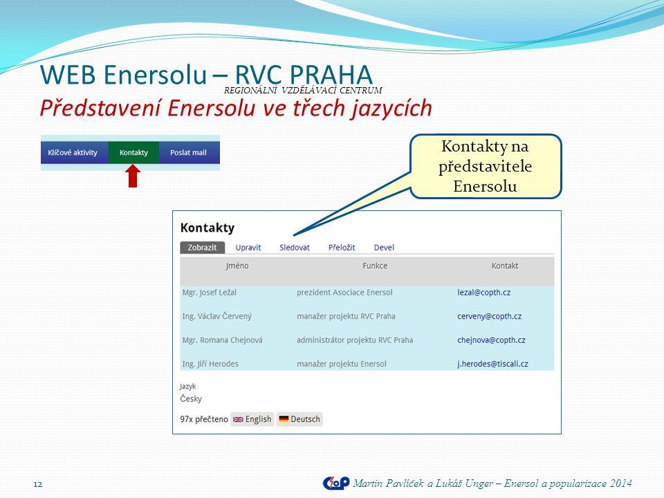 WEB Enersolu – RVC PRAHA Představení Enersolu ve třech jazycích