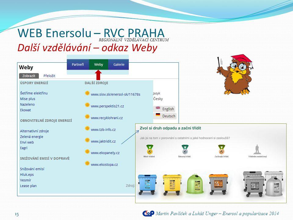 WEB Enersolu – RVC PRAHA Další vzdělávání – odkaz Weby