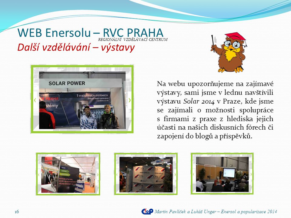 WEB Enersolu – RVC PRAHA Další vzdělávání – výstavy