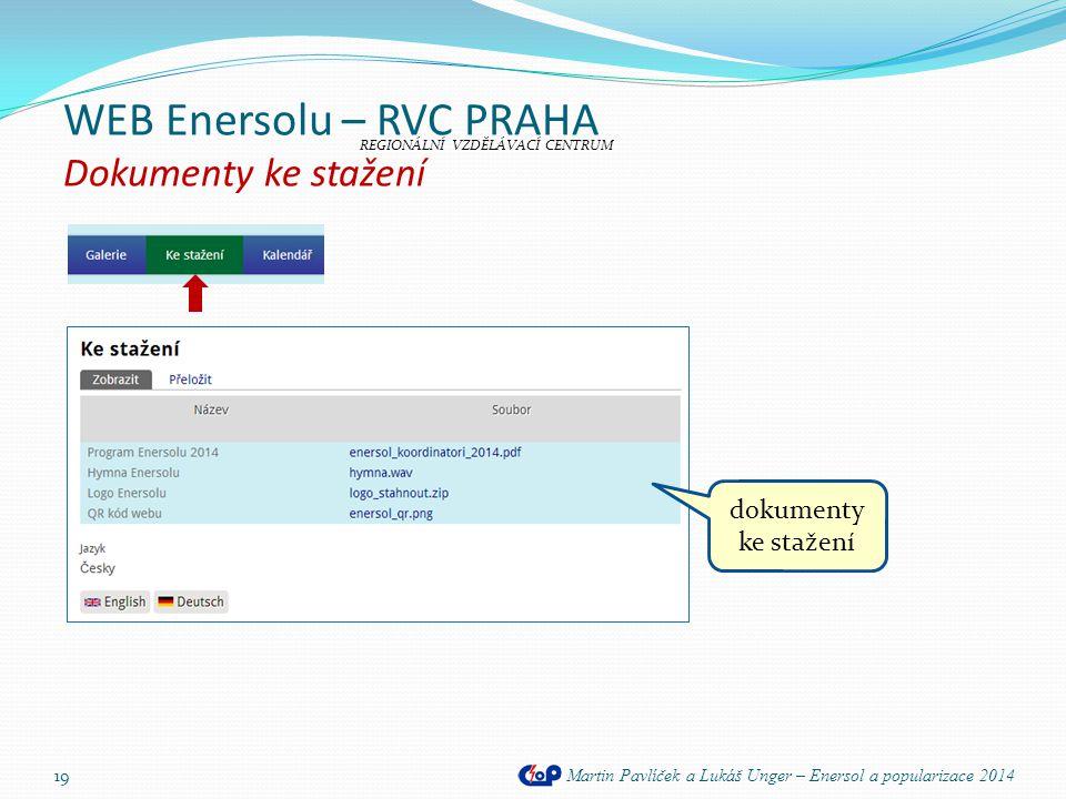 WEB Enersolu – RVC PRAHA Dokumenty ke stažení
