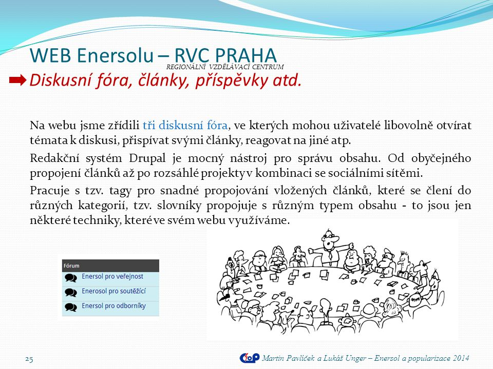 WEB Enersolu – RVC PRAHA Diskusní fóra, články, příspěvky atd.
