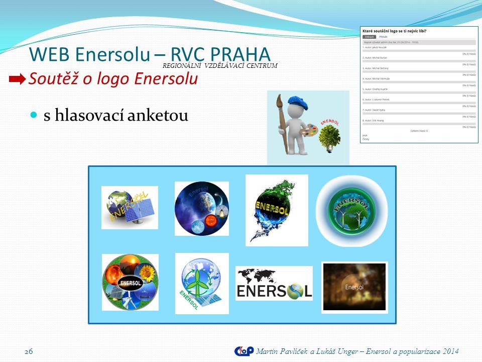 WEB Enersolu – RVC PRAHA Soutěž o logo Enersolu