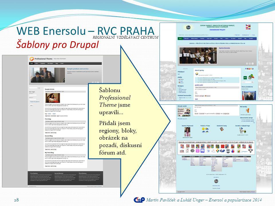 WEB Enersolu – RVC PRAHA Šablony pro Drupal