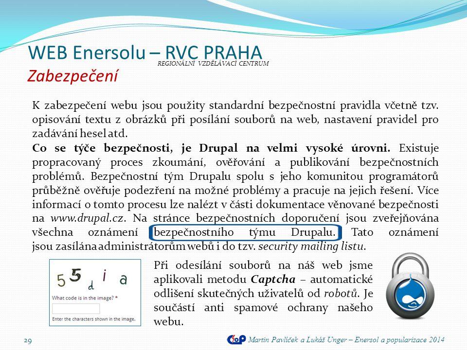 WEB Enersolu – RVC PRAHA Zabezpečení