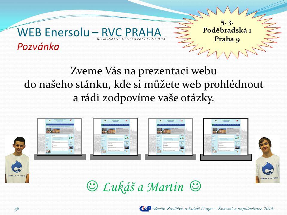 WEB Enersolu – RVC PRAHA Pozvánka