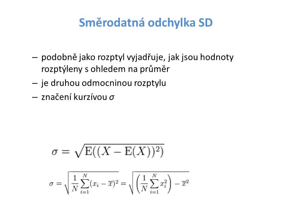 Směrodatná odchylka SD