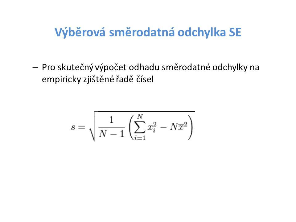 Výběrová směrodatná odchylka SE