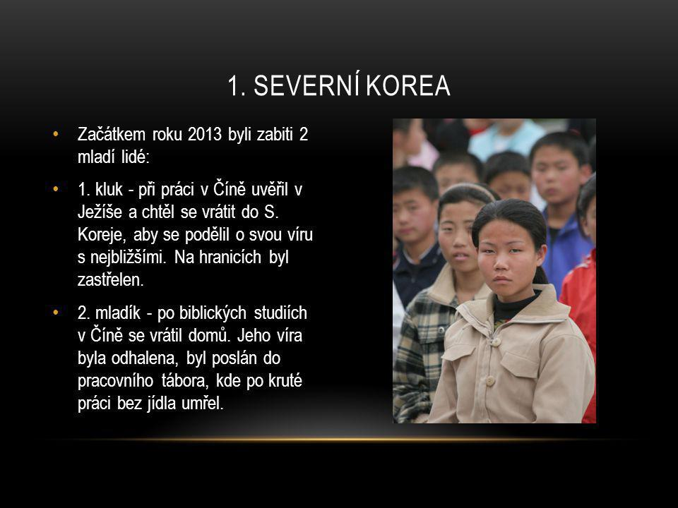 1. Severní korea Začátkem roku 2013 byli zabiti 2 mladí lidé: