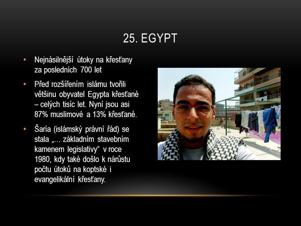 25. egypt Nejnásilnější útoky na křesťany za posledních 700 let