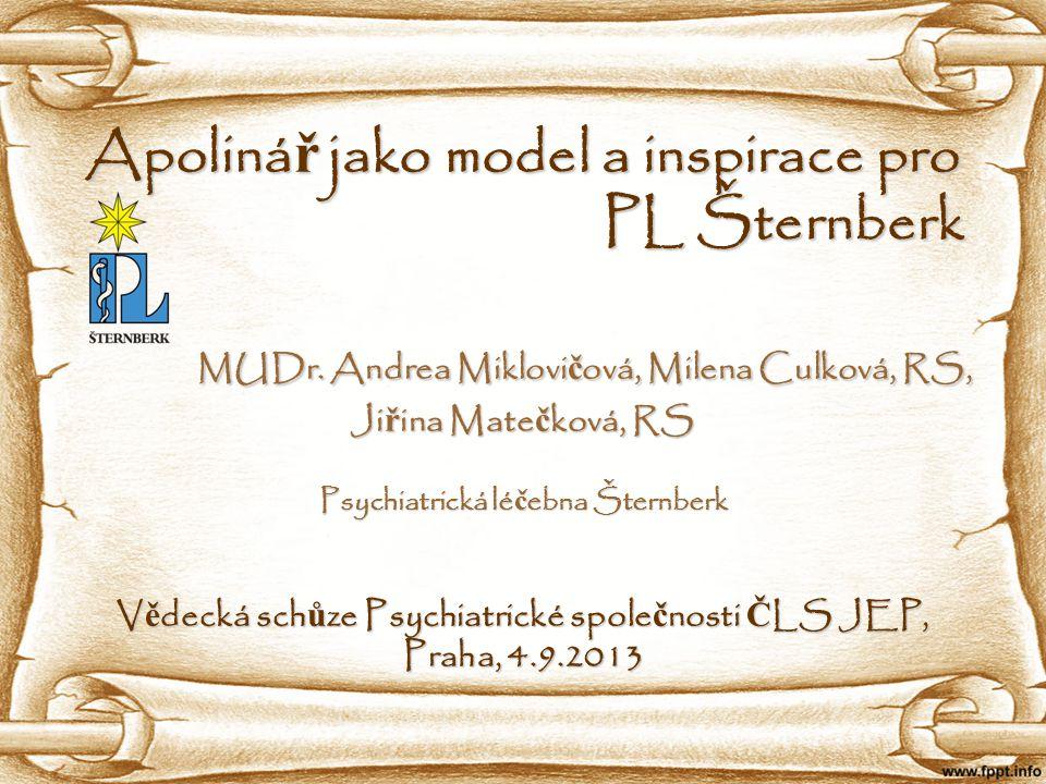 Apolinář jako model a inspirace pro PL Šternberk MUDr