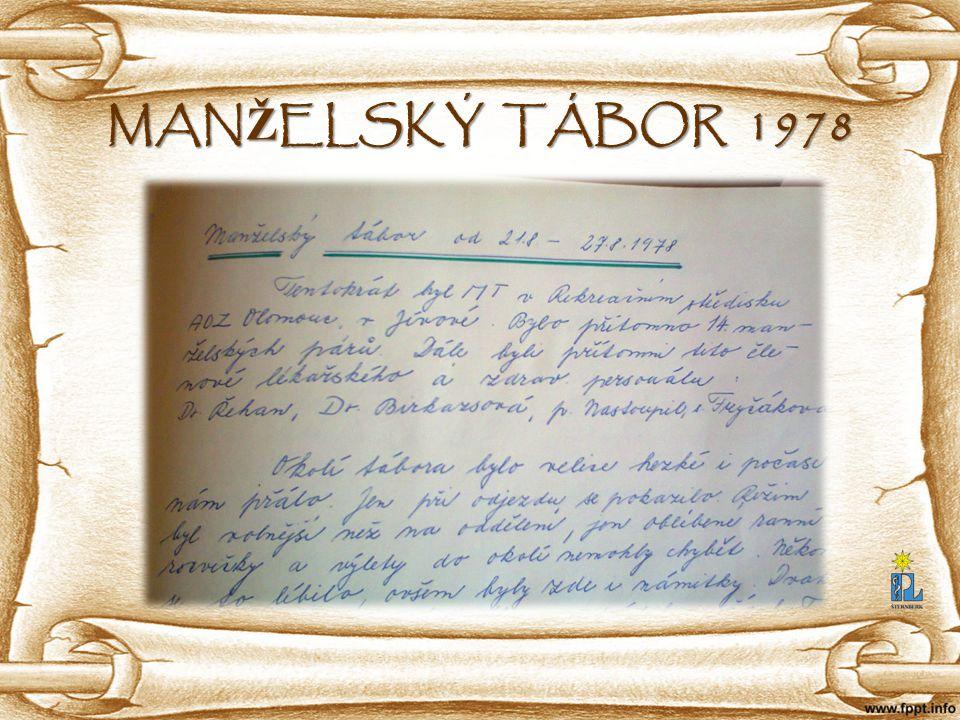 MANŽELSKÝ TÁBOR 1978