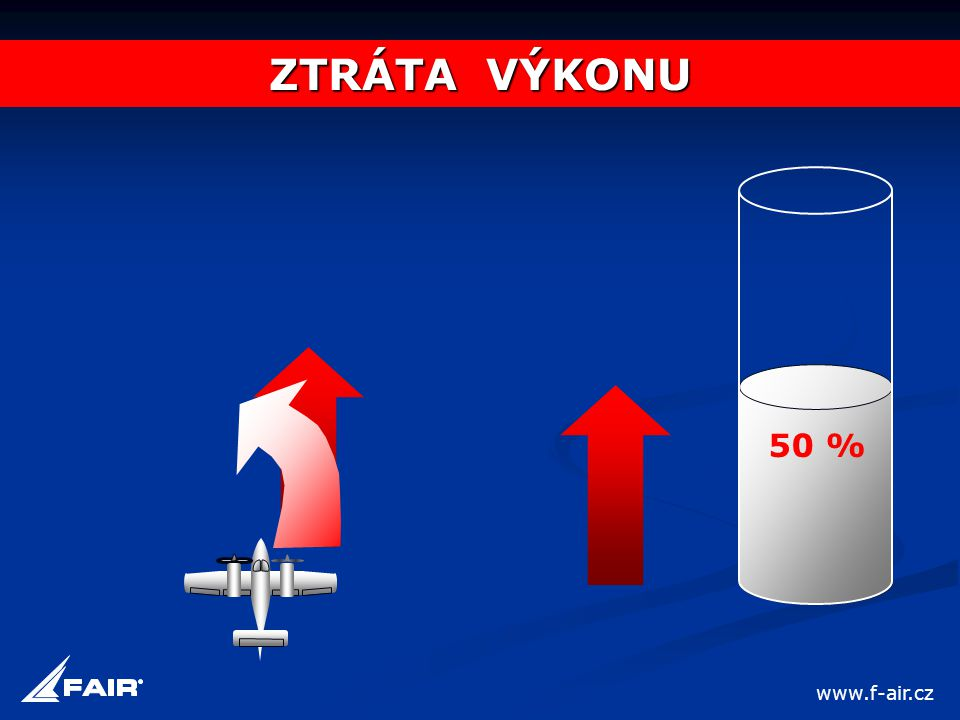ZTRÁTA VÝKONU 50 % www.f-air.cz