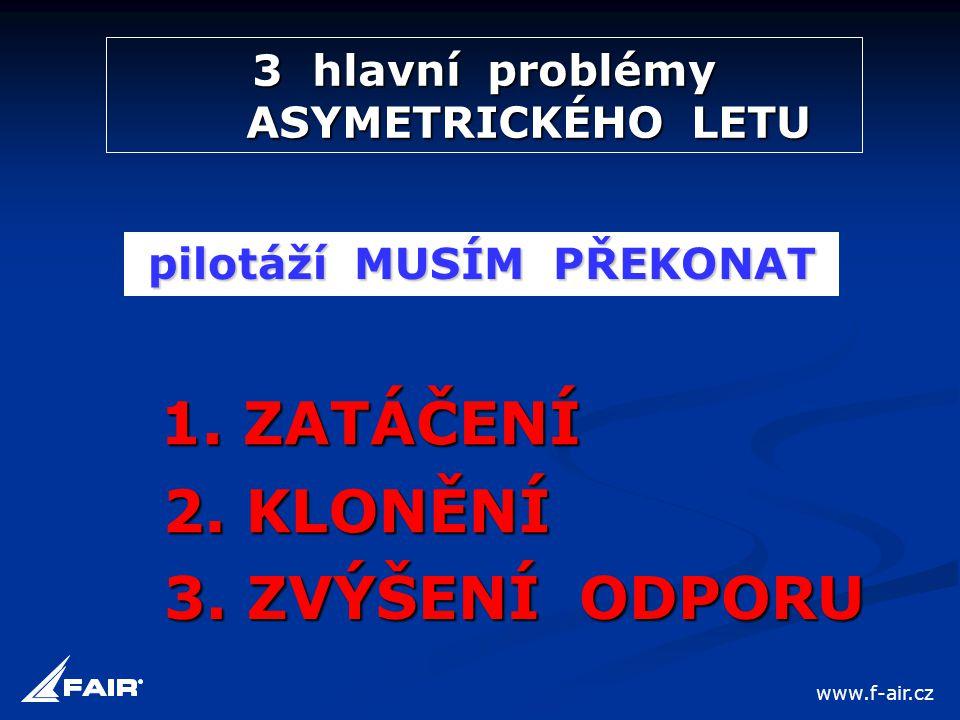 3 hlavní problémy ASYMETRICKÉHO LETU pilotáží MUSÍM PŘEKONAT