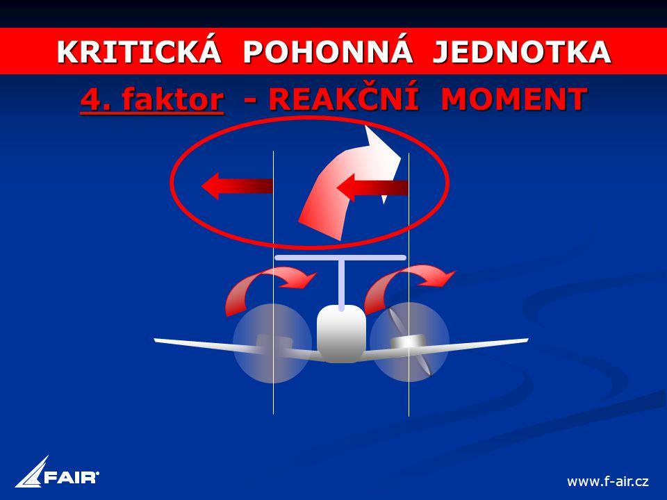 KRITICKÁ POHONNÁ JEDNOTKA 4. faktor - REAKČNÍ MOMENT