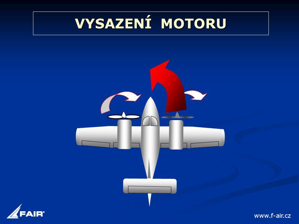 VYSAZENÍ MOTORU www.f-air.cz