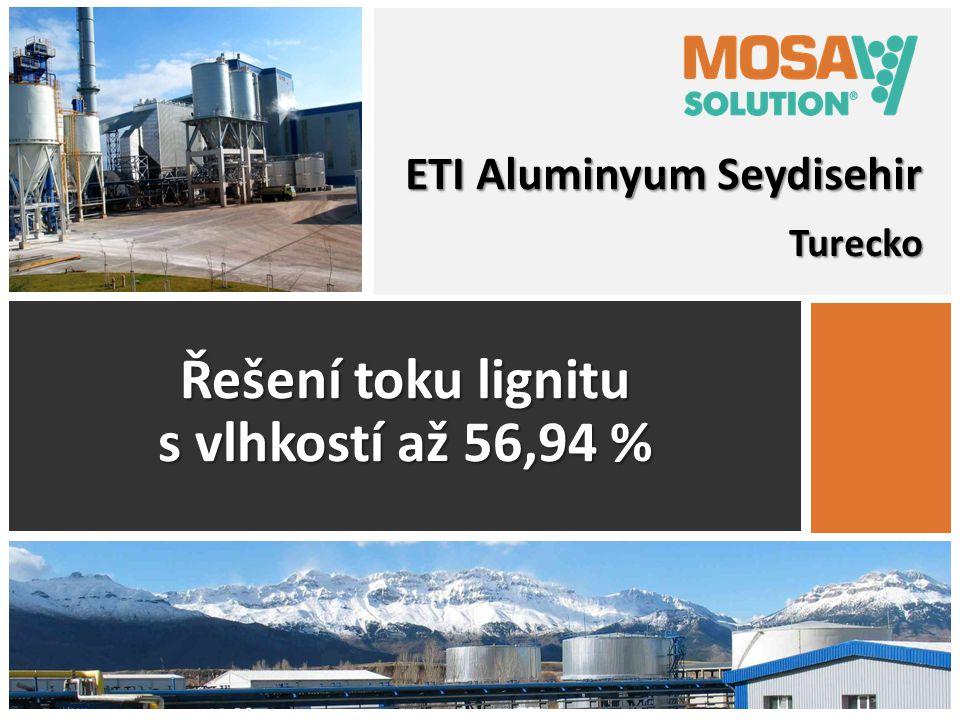 Řešení toku lignitu s vlhkostí až 56,94 %