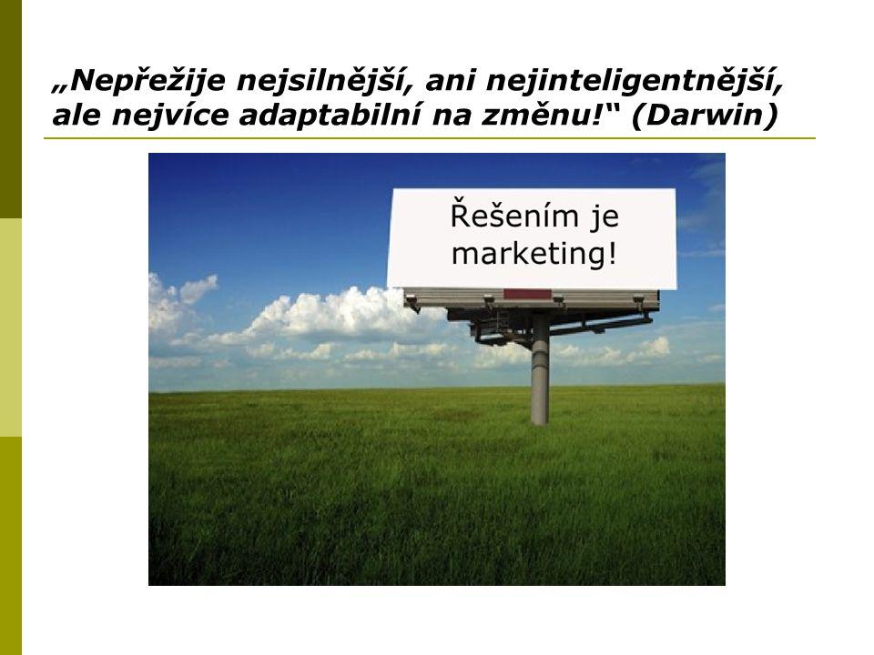 """""""Nepřežije nejsilnější, ani nejinteligentnější, ale nejvíce adaptabilní na změnu! (Darwin)"""