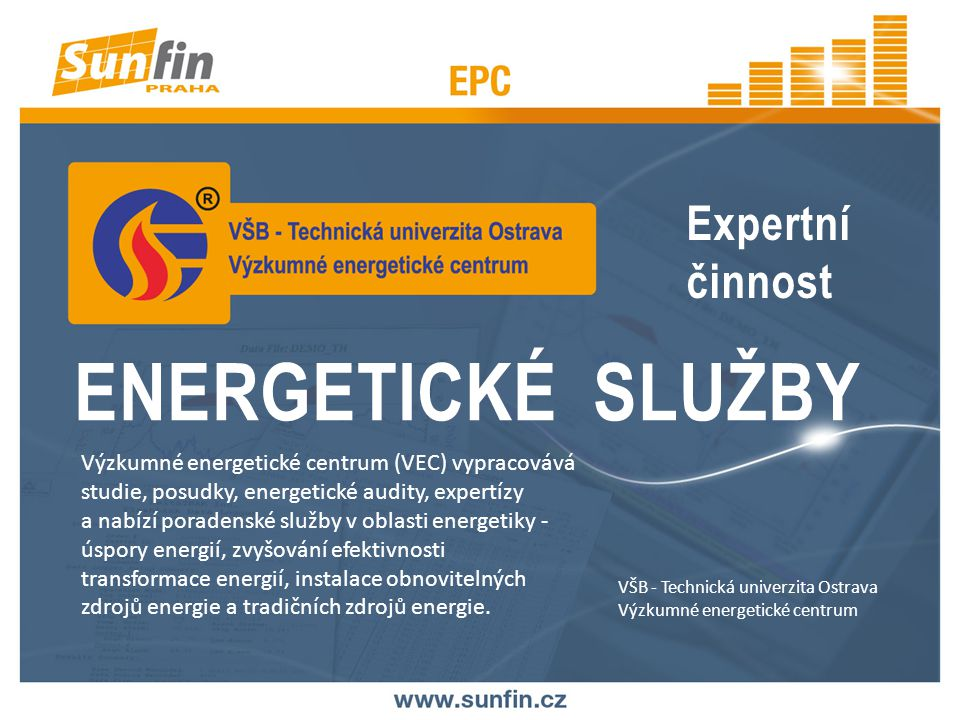ENERGETICKÉ SLUŽBY Expertní činnost