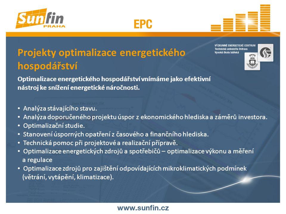 Projekty optimalizace energetického hospodářství