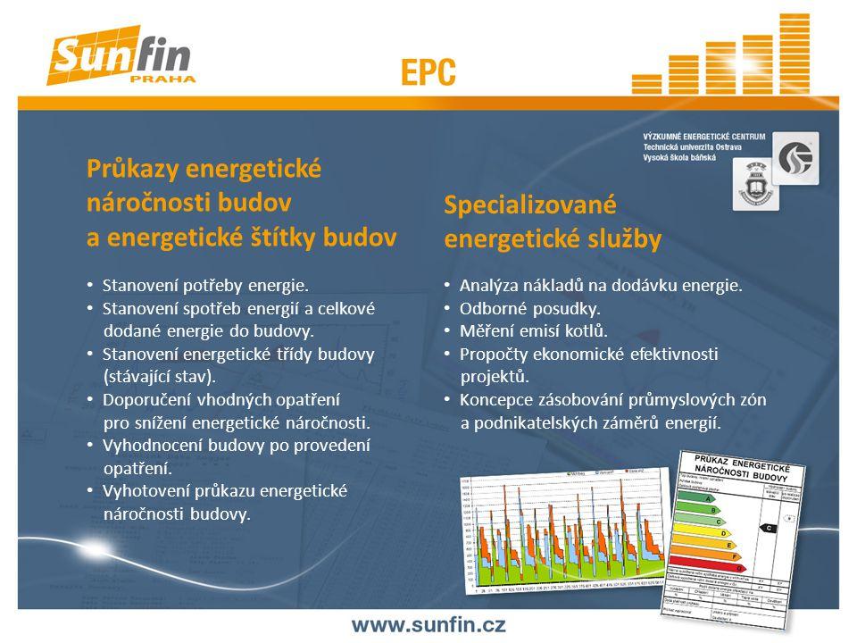 Průkazy energetické náročnosti budov a energetické štítky budov