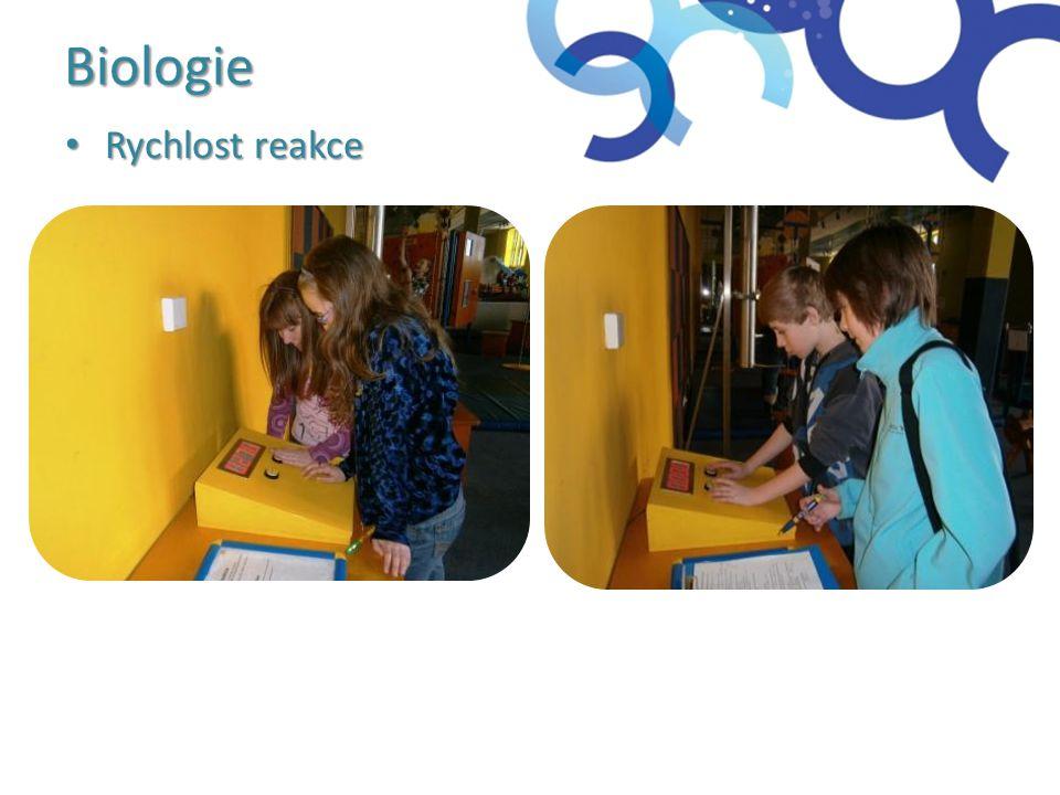 Biologie Rychlost reakce