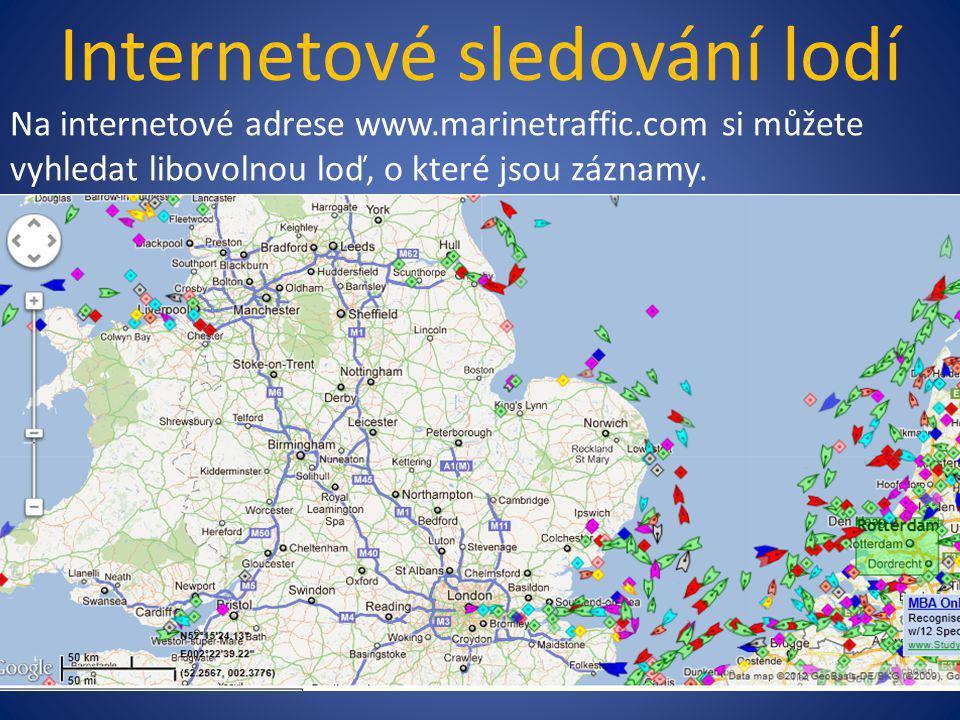 Internetové sledování lodí
