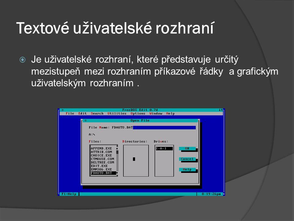 Textové uživatelské rozhraní