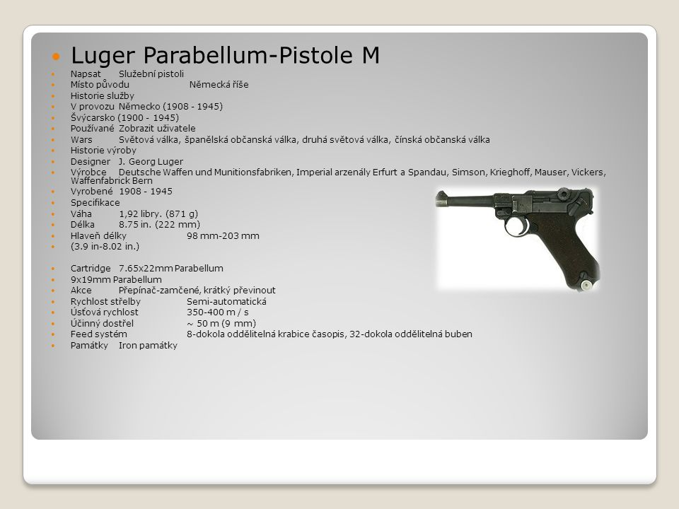 Luger Parabellum-Pistole M