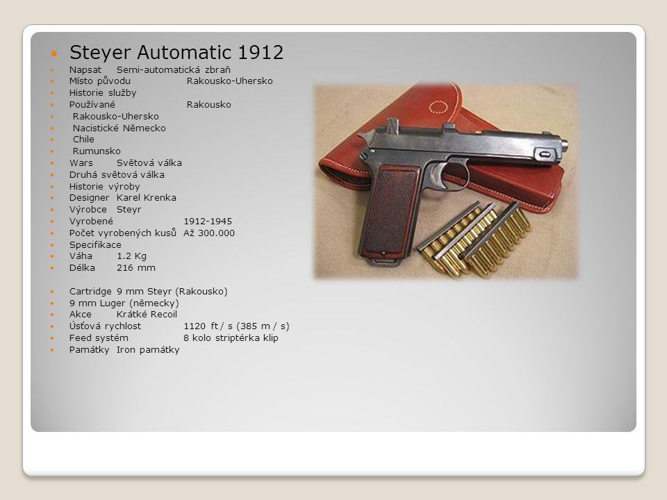 Steyer Automatic 1912 Napsat Semi-automatická zbraň