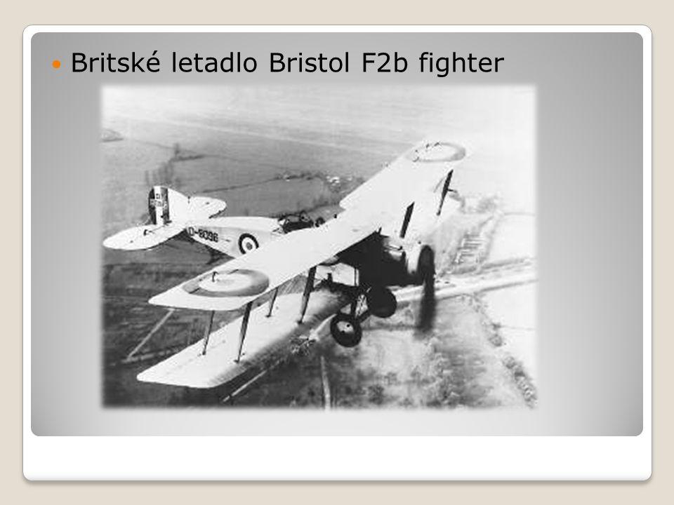 Britské letadlo Bristol F2b fighter