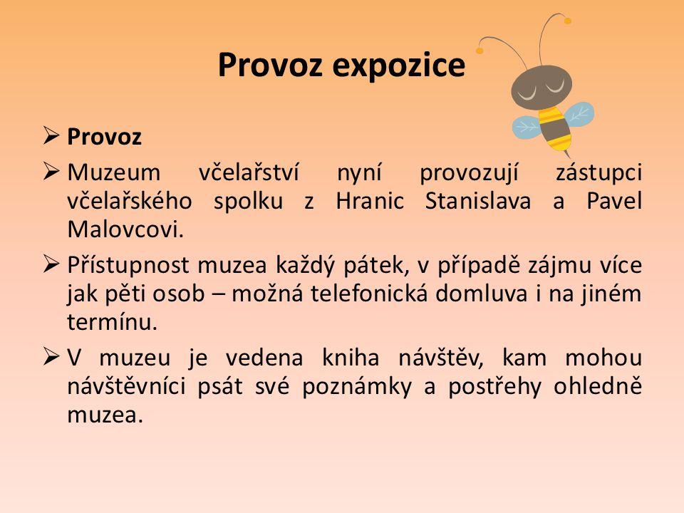 Provoz expozice Provoz