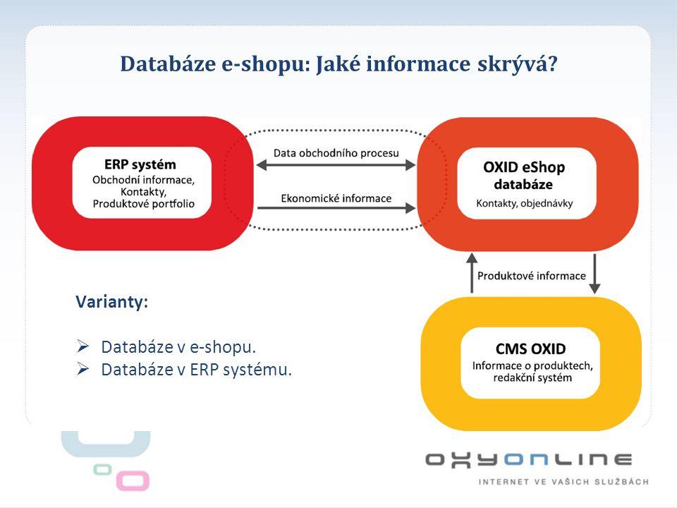 Databáze e-shopu: Jaké informace skrývá