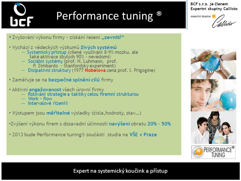 """Performance tuning ® Zvyšování výkonu firmy – získání řešení """"zevnitř"""