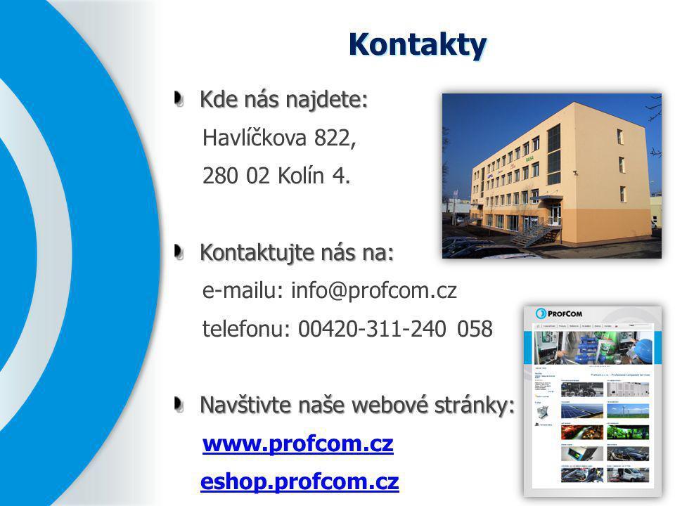 Kontakty Kde nás najdete: Havlíčkova 822, 280 02 Kolín 4.