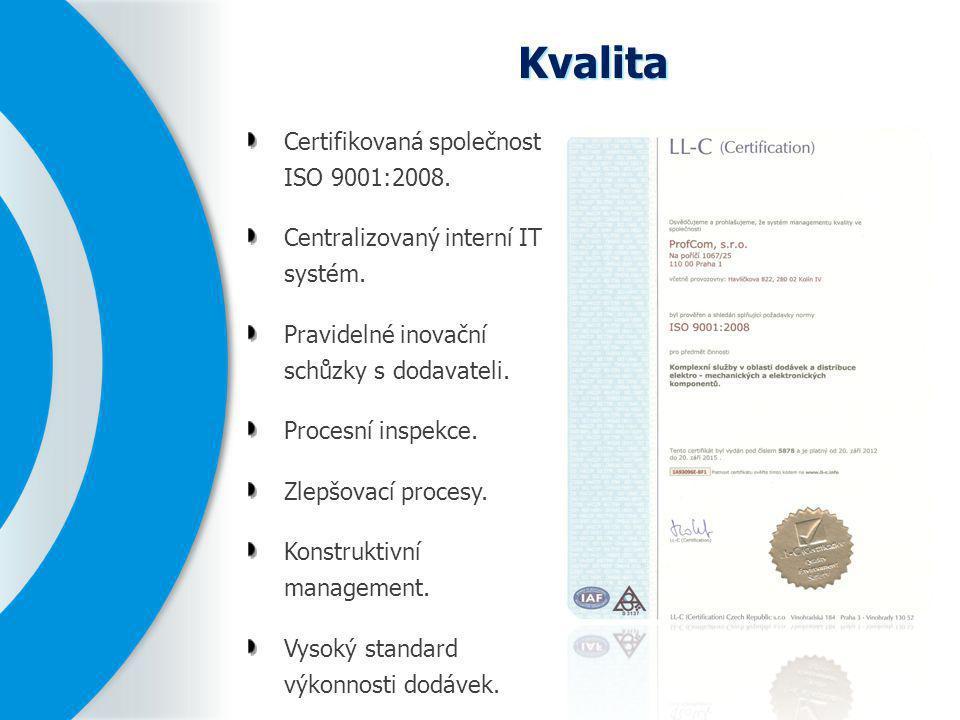Kvalita Certifikovaná společnost ISO 9001:2008.