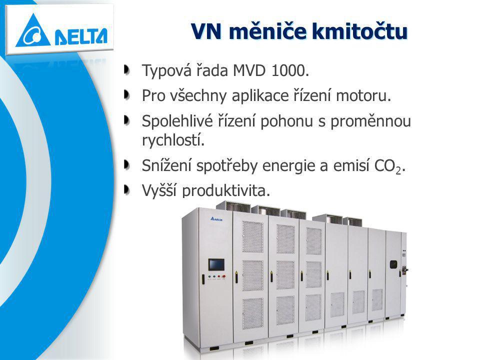 VN měniče kmitočtu Typová řada MVD 1000.