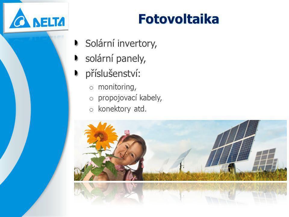 Fotovoltaika Solární invertory, solární panely, příslušenství: