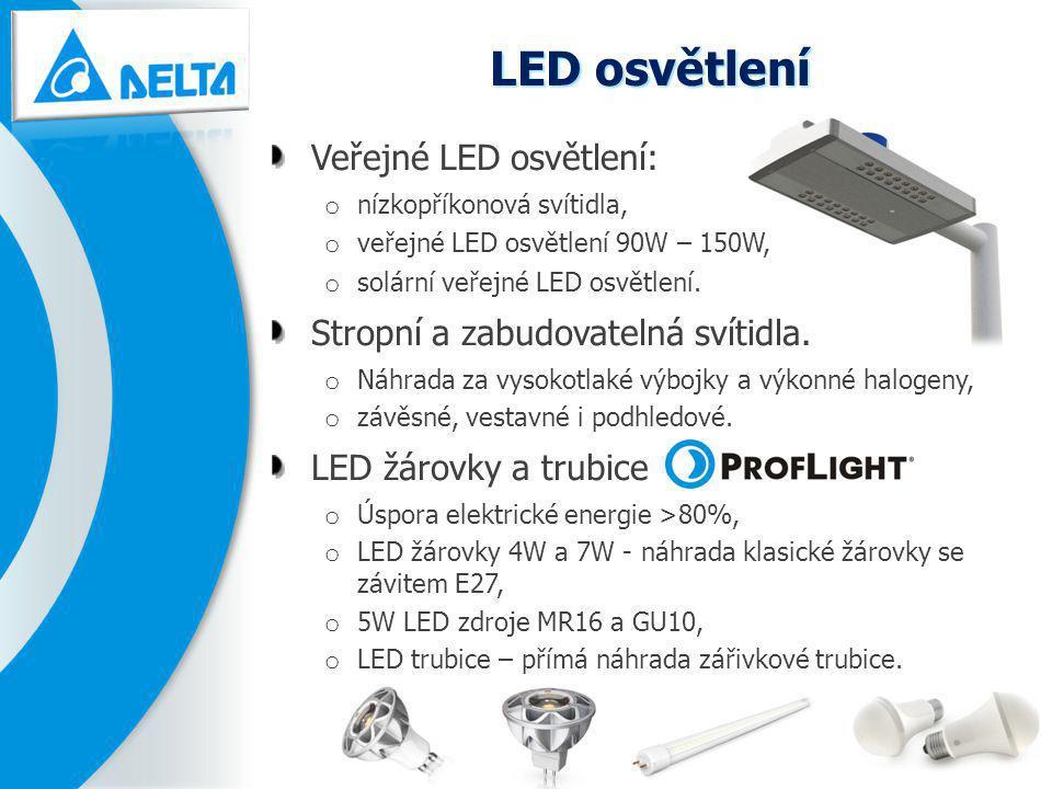LED osvětlení Veřejné LED osvětlení: Stropní a zabudovatelná svítidla.