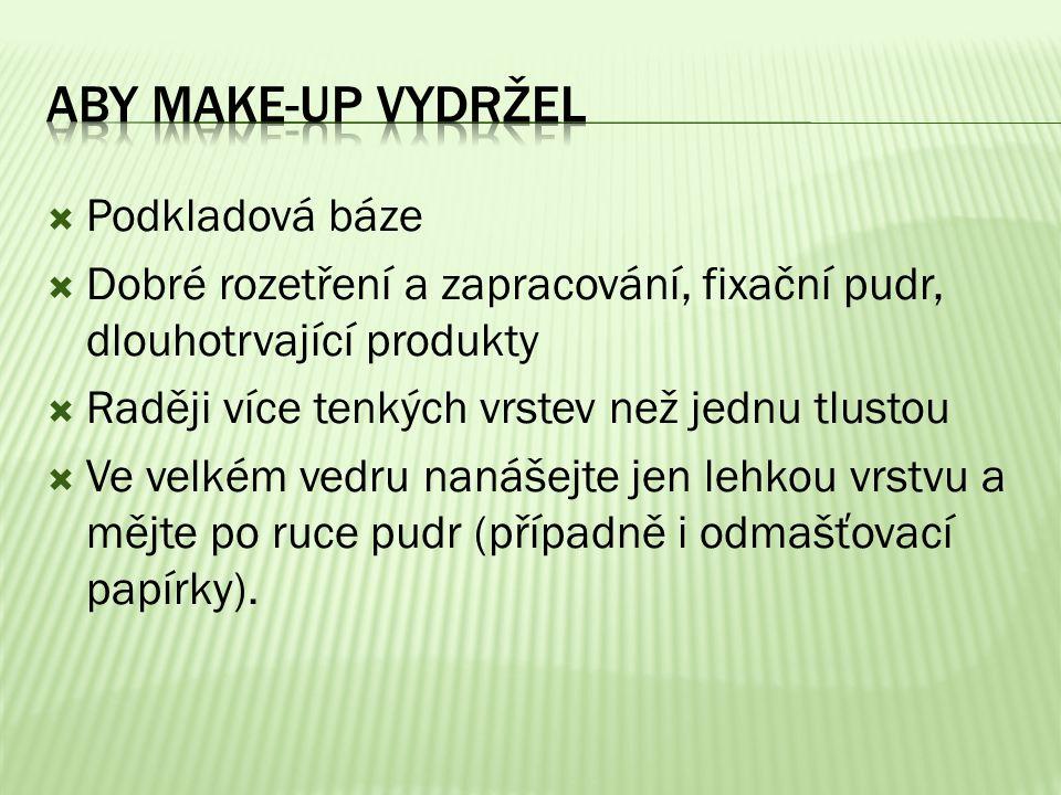 Aby make-up vydržel Podkladová báze