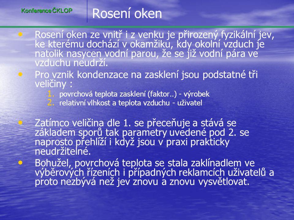 Konference ČKLOP Rosení oken.