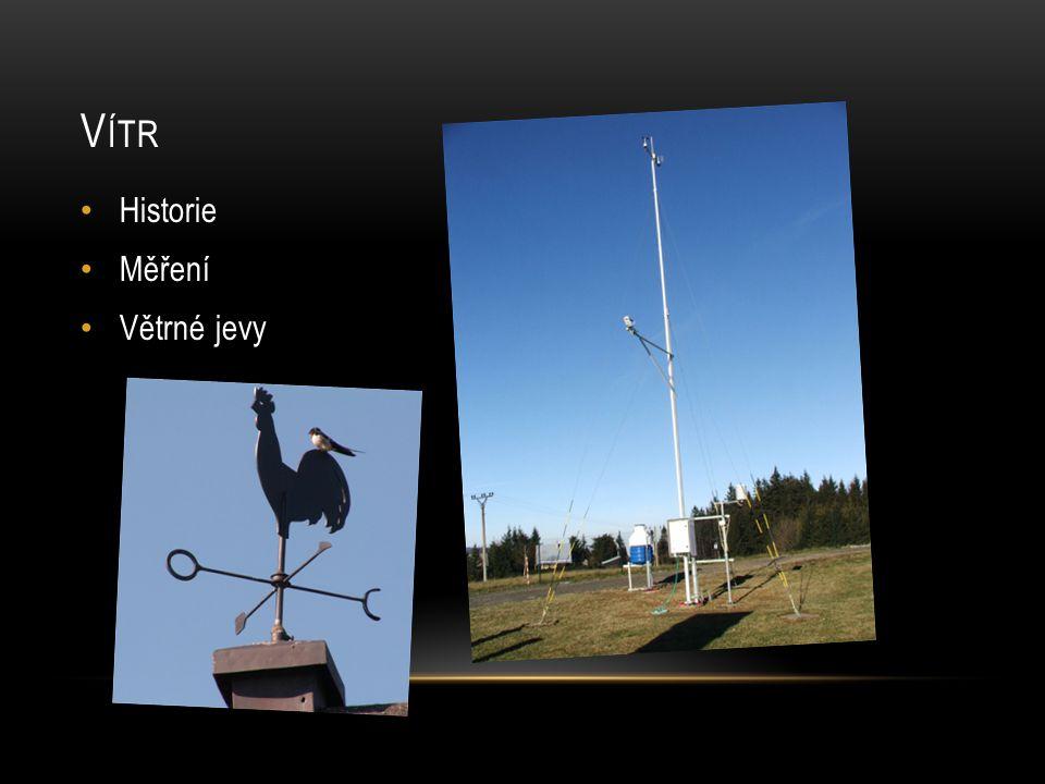 Vítr Historie Měření Větrné jevy