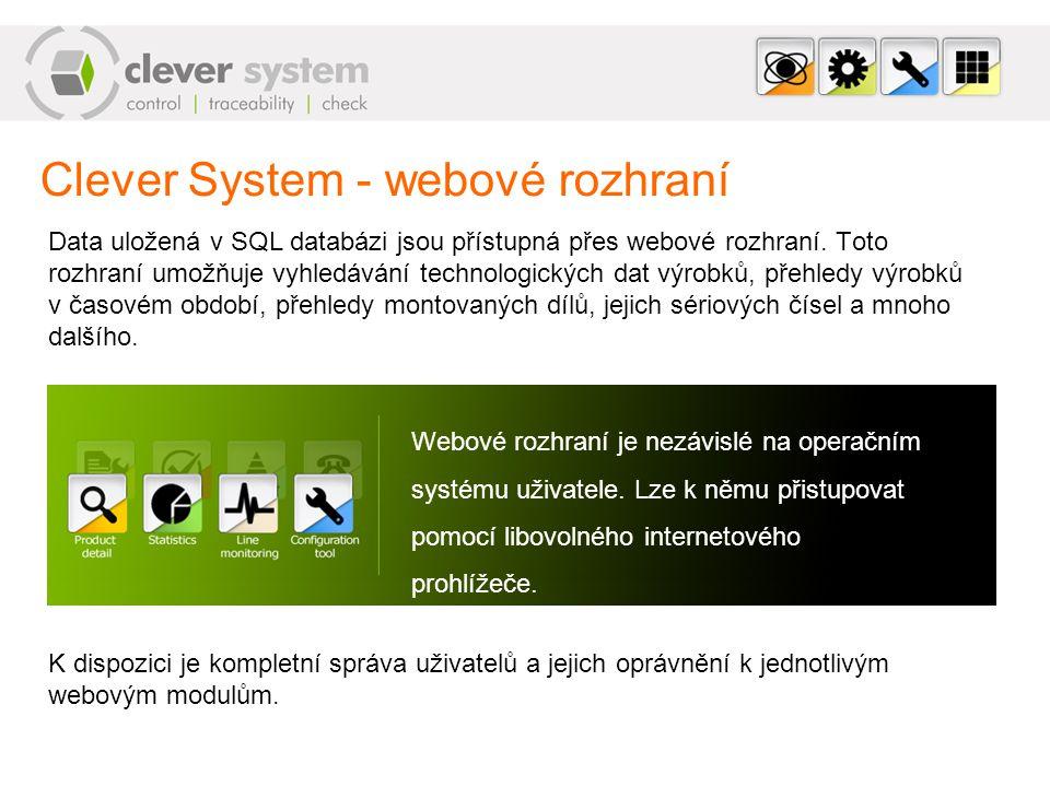 Clever System - webové rozhraní